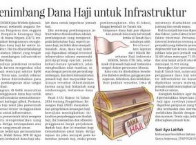 Menimbang Dana Haji untuk Infrastruktur