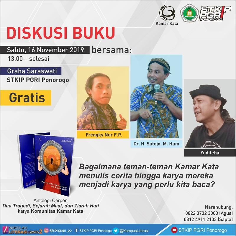 Tingkatkan Motivasi Berkarya, STKIP PGRI Ponorogo Mengadakan Diskusi Literasi