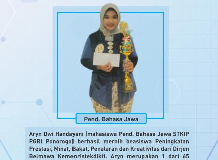 Aryn Dwi Handayani Raih Beasiswa Kemenristekdikti