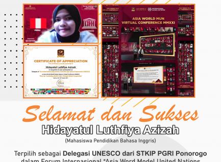 Mahasiswa STKIP PGRI Ponorogo Terpilih Menjadi Delegasi UNESCO dalam AWMUN Virtual Conference MMXXI