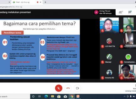 Workshop Klinis Online: Membentuk PKM yang Kreatif, Inovatif, dan Tepat Guna